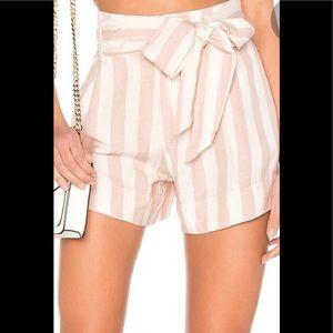 Rails Katy petal stripe short pink white size XS